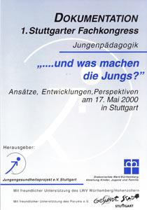 Titelbild 1. Stuttgarter Fachkongress Jungenpädagogik